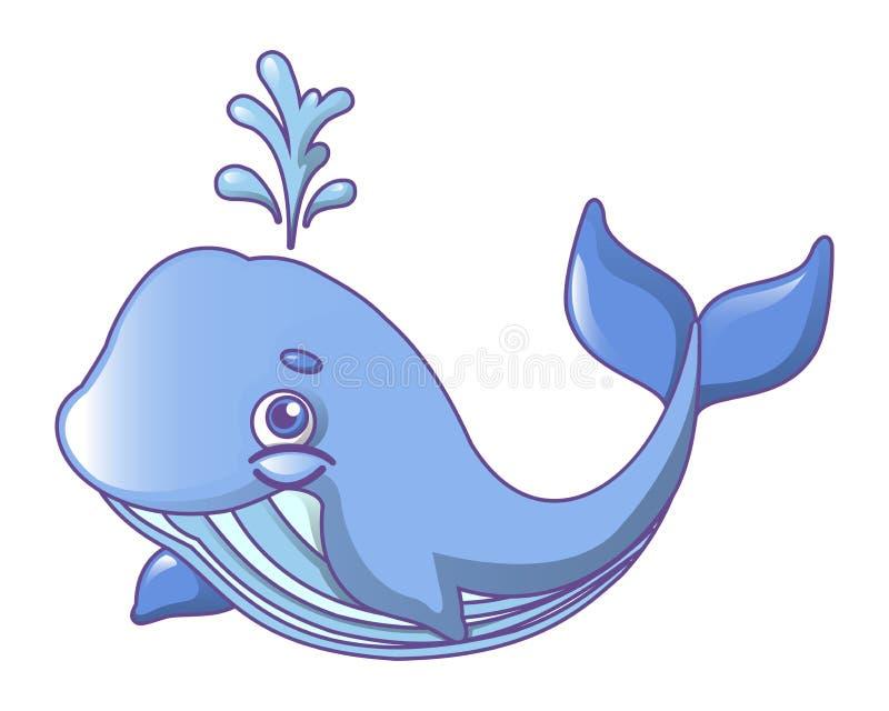 Het pictogram van de vinwalvis, beeldverhaalstijl stock illustratie