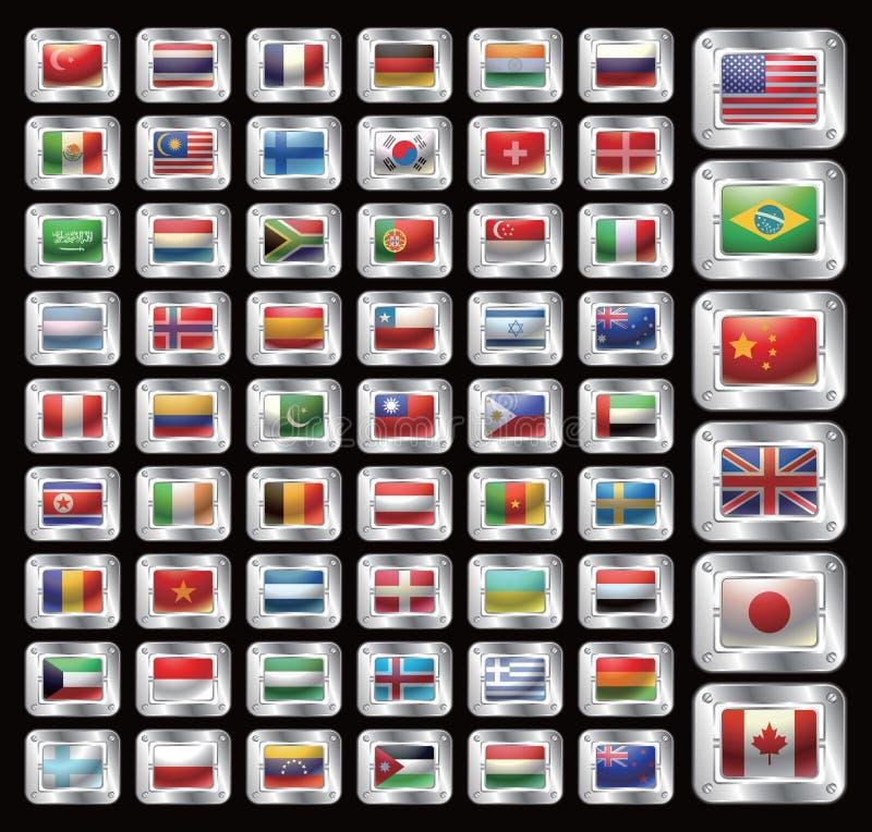 Het Pictogram van de vlag royalty-vrije illustratie