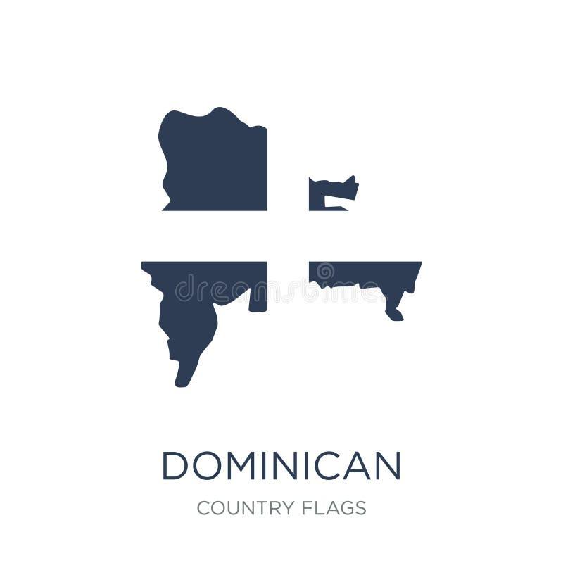 Het Pictogram van de Vlag van de Dominicaanse Republiek  vector illustratie