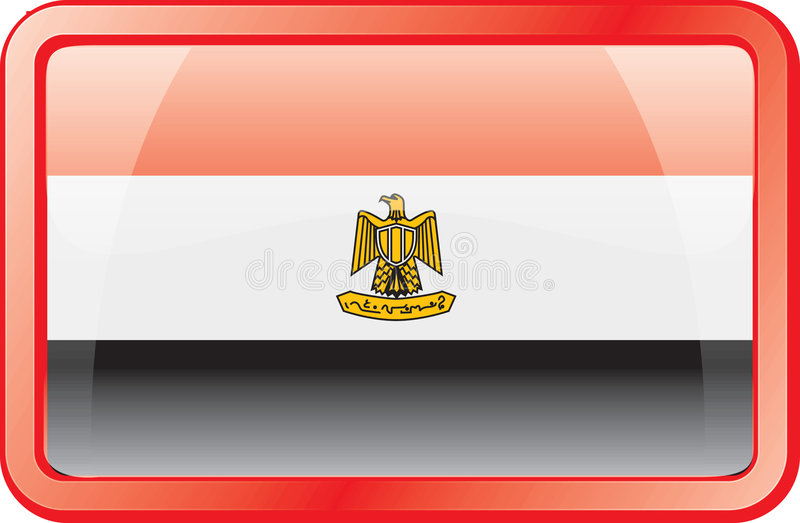 Het Pictogram van de Vlag van Egypte stock illustratie