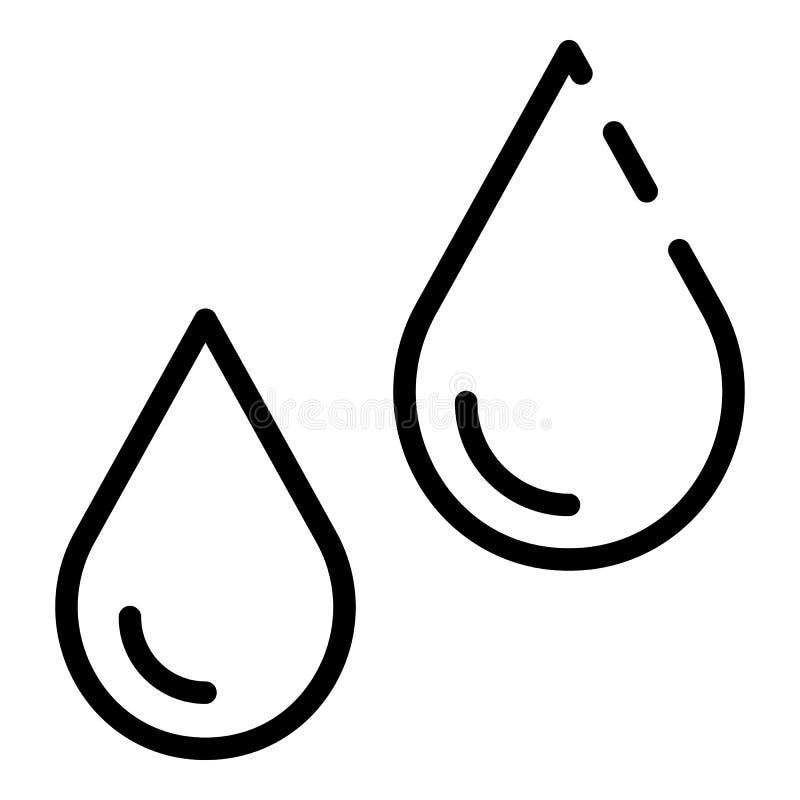 Het pictogram van de vochtigheidscontrole, overzichtsstijl stock illustratie
