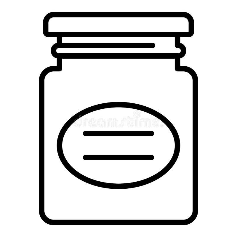 Het pictogram van de voedseljampot, overzichtsstijl vector illustratie