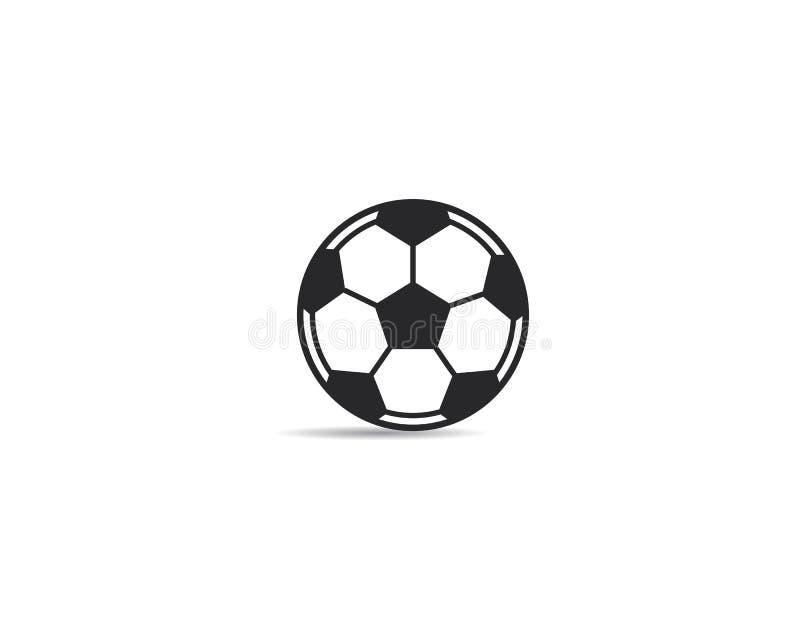 Het pictogram van de voetbalbal Logo Vector-illustratie stock illustratie