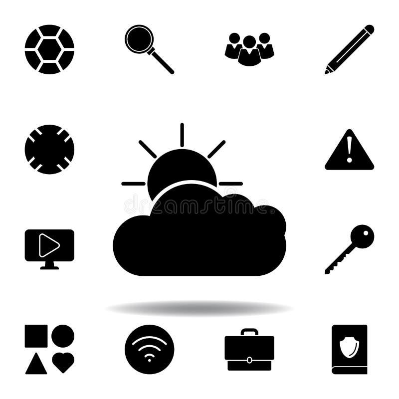 Het Pictogram van de voetbalbal De tekens en de symbolen kunnen voor Web, embleem, mobiele toepassing, UI, UX worden gebruikt royalty-vrije illustratie