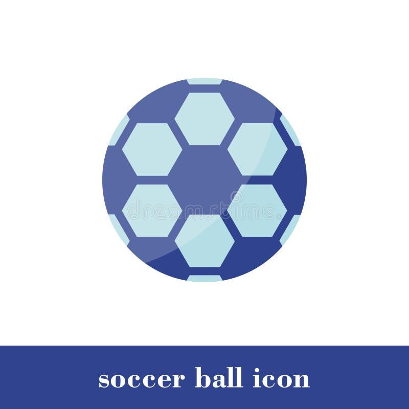 Het pictogram van de voetbalbal Vlakke stijl Bal royalty-vrije illustratie