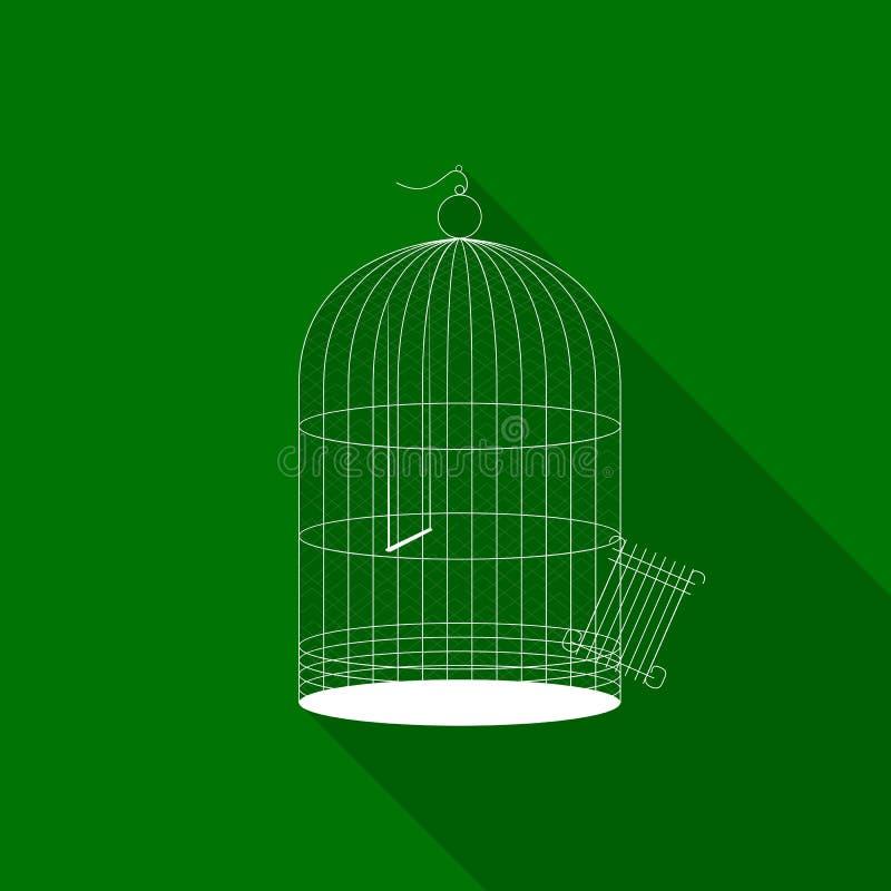 Het pictogram van de vogelkooi stock illustratie