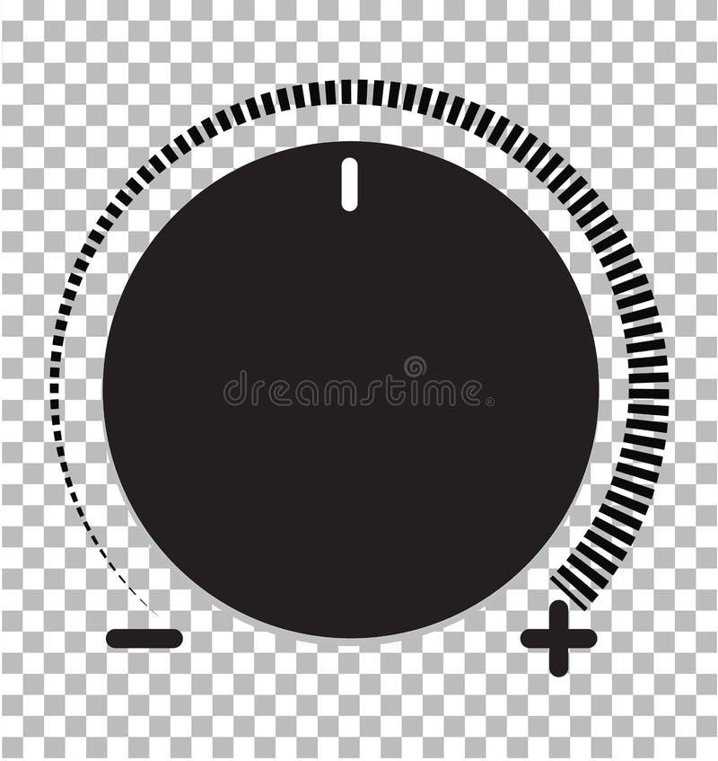 Het Pictogram van de volumecontrole volumecontrole op transparante achtergrond V royalty-vrije illustratie