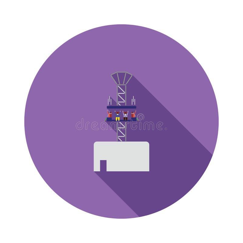 Het pictogram van de vrije valrit royalty-vrije illustratie