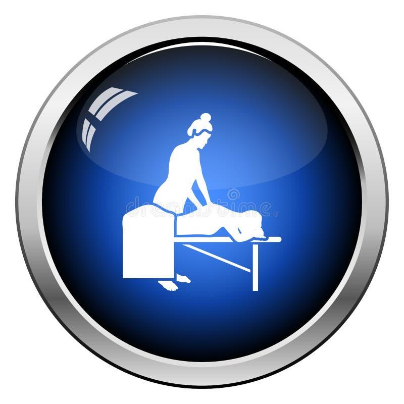 Het pictogram van de vrouwenmassage vector illustratie