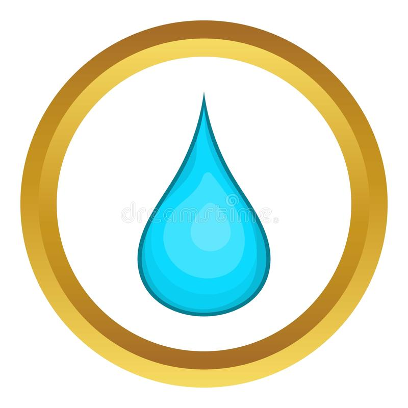Het pictogram van de waterdaling royalty-vrije illustratie