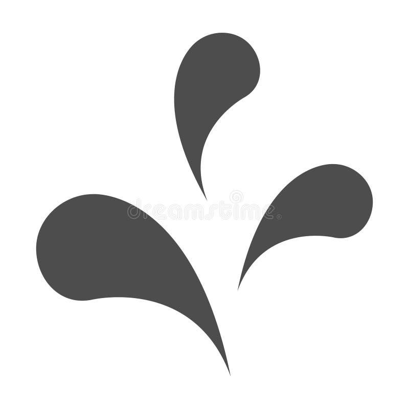 Het pictogram van de waterdaling, aque aardsymbool Teken geïsoleerde ontwerp vectorillustratie vector illustratie