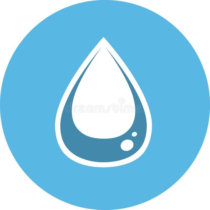 Het pictogram van de waterdaling Scheursymbool vector illustratie