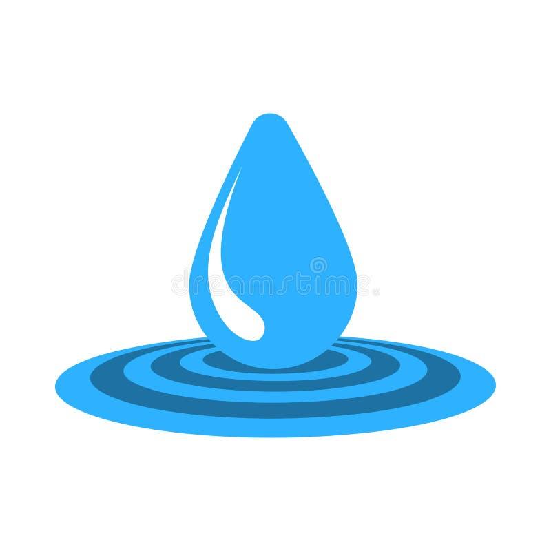 Het pictogram van de waterdaling stock illustratie