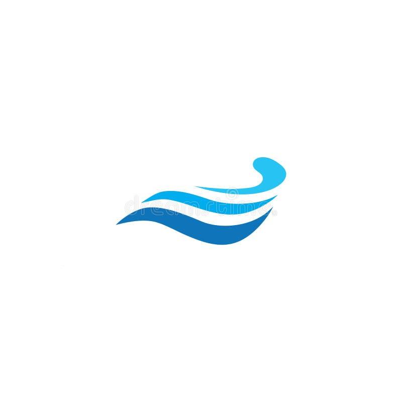 Het pictogram van de watergolf vector illustratie