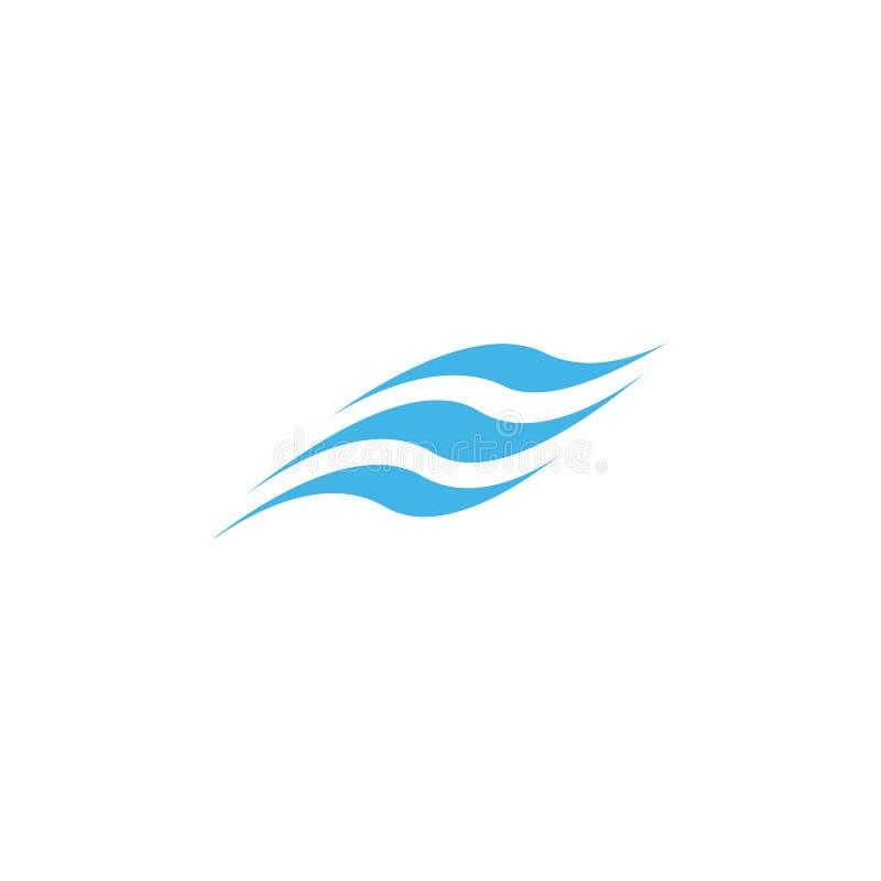 Het pictogram van de watergolf royalty-vrije illustratie
