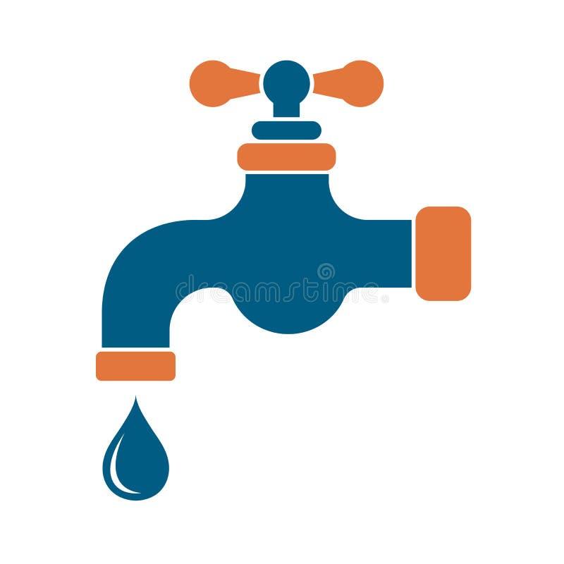 Het pictogram van de waterkraan vector illustratie