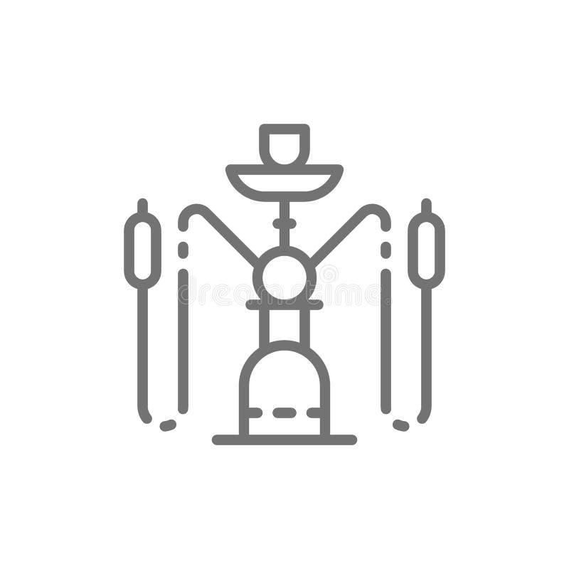 Het pictogram van de waterpijplijn royalty-vrije illustratie