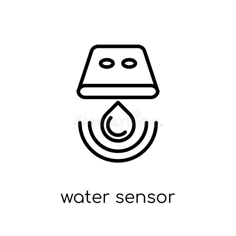 het pictogram van de watersensor In moderne vlakke lineaire vectorwatersensor royalty-vrije illustratie