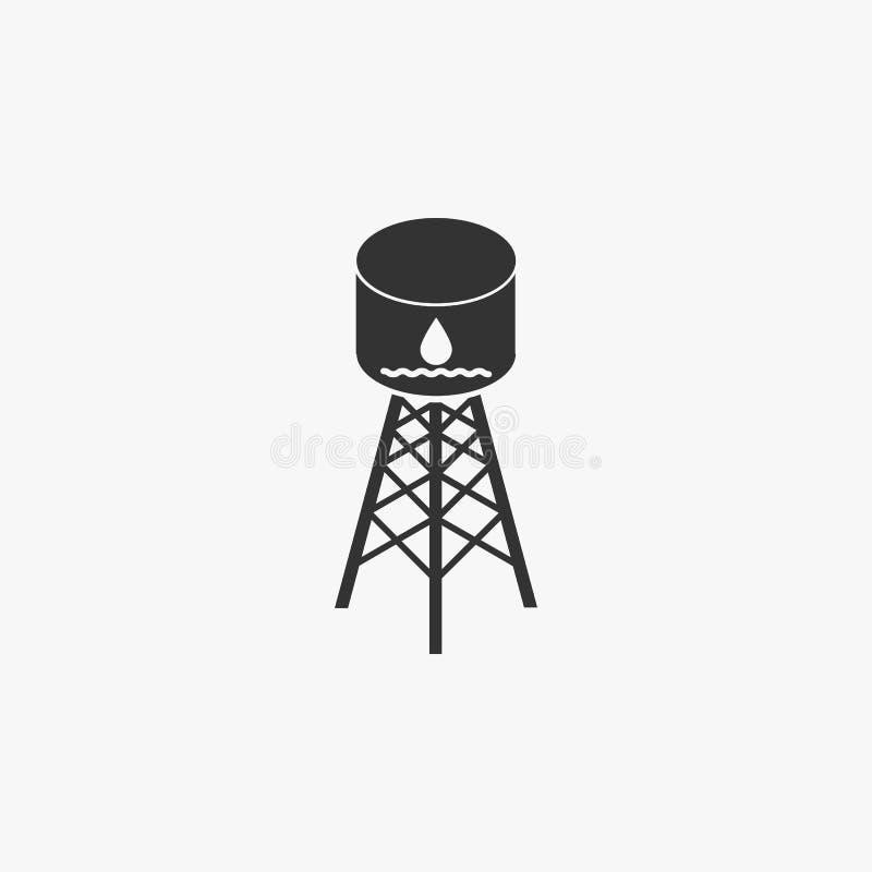 Het pictogram van de watertank, water, tank, cilinder royalty-vrije illustratie