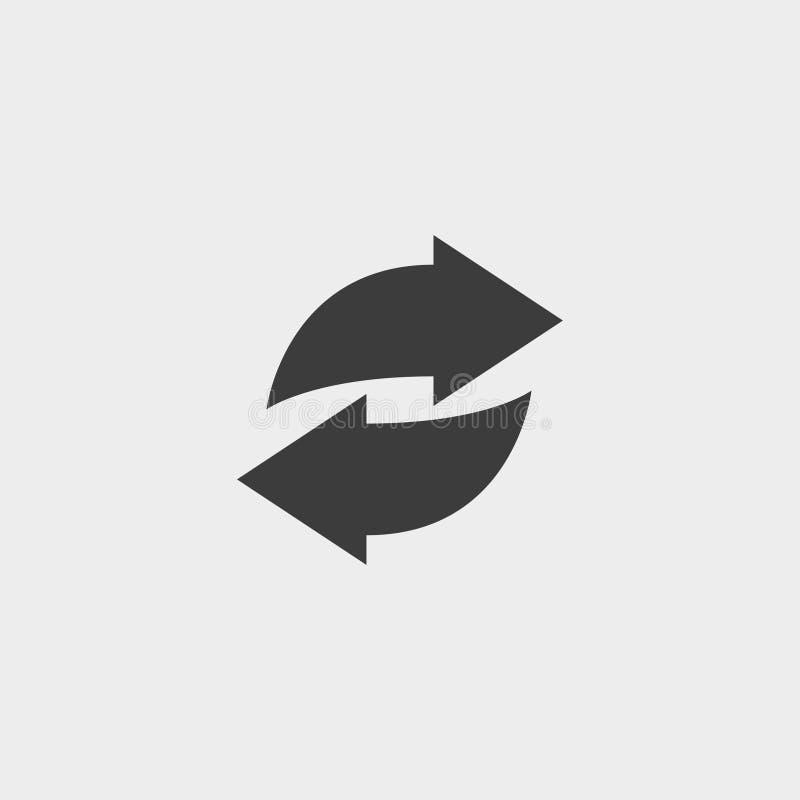Het pictogram van de Weblijn Cirkelpijlen in zwarte kleur stock illustratie