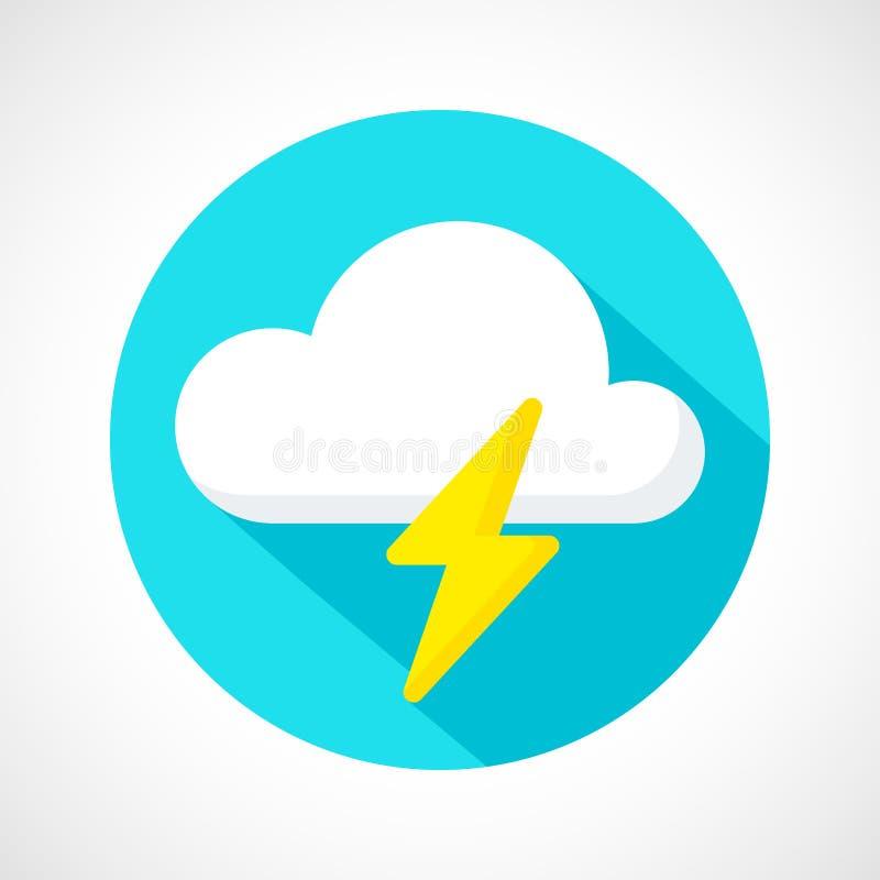 Het pictogram van de weeronweersbui vector illustratie