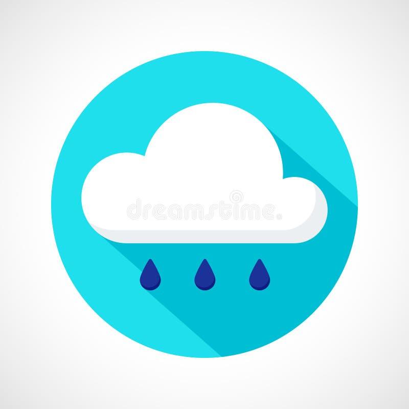 Het pictogram van de weerregen stock illustratie