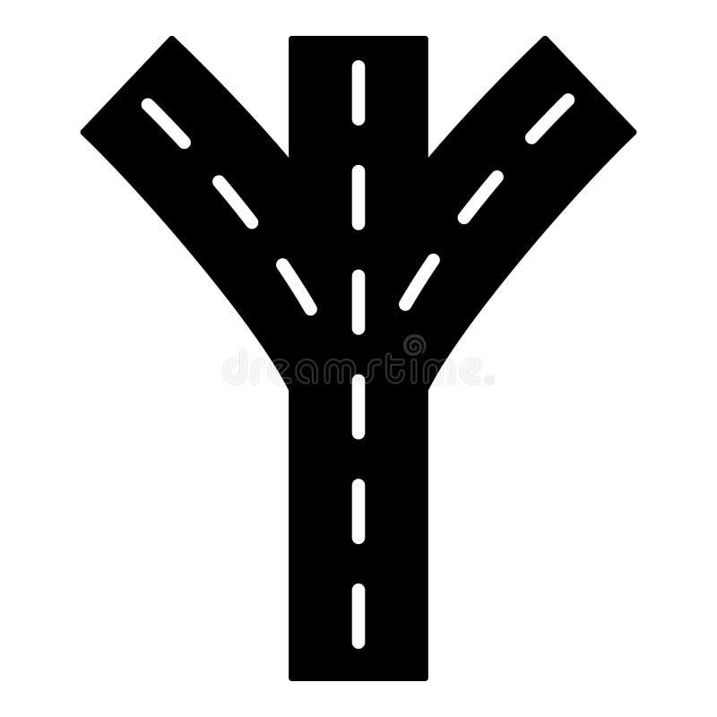 Het pictogram van de wegvork, eenvoudige stijl royalty-vrije illustratie