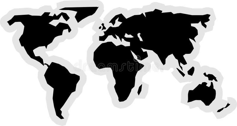 Download Het Pictogram Van De Wereld Vector Illustratie - Illustratie bestaande uit europa, azië: 33634