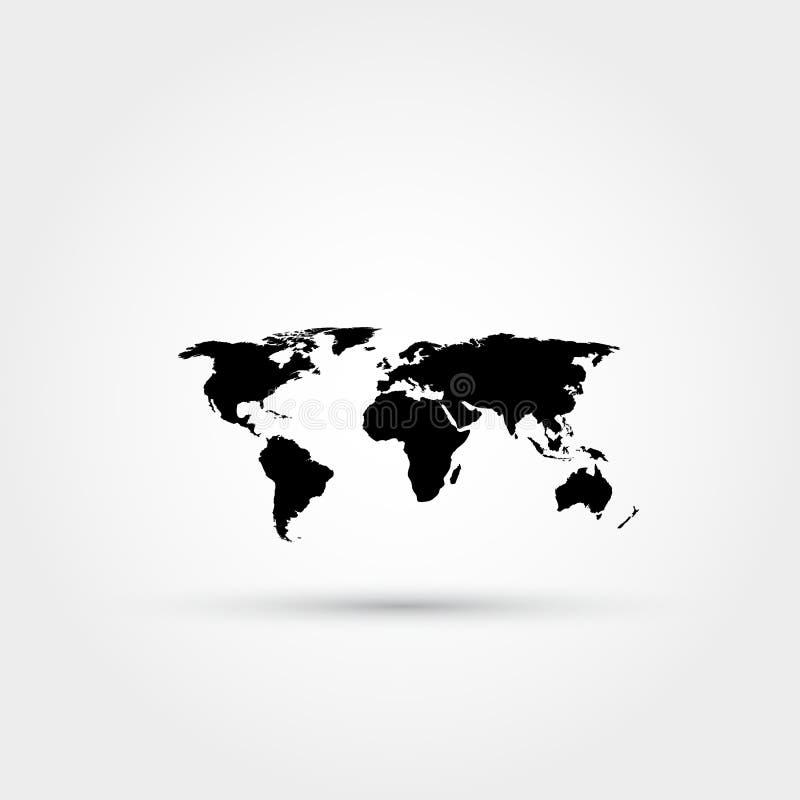 Het pictogram van de wereldkaart royalty-vrije illustratie