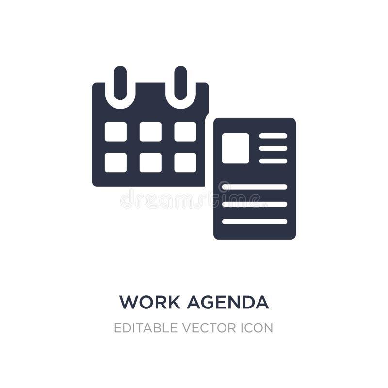 het pictogram van de het werkagenda op witte achtergrond Eenvoudige elementenillustratie van Algemeen concept vector illustratie