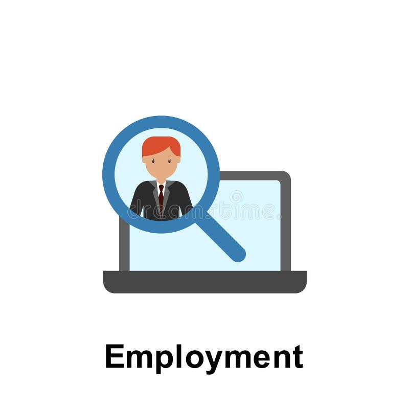 Het pictogram van de werkgelegenheidskleur Element van bedrijfsillustratie Grafisch het ontwerppictogram van de premiekwaliteit T royalty-vrije illustratie
