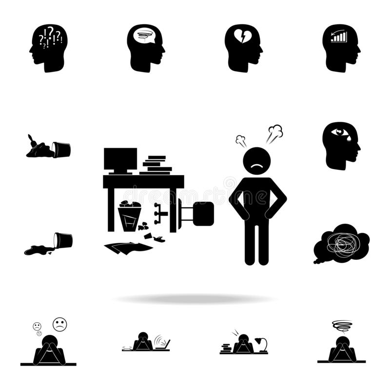het pictogram van de het werkspanning Gedetailleerde reeks pictogrammen van het chaoselement Premie grafisch ontwerp Één van de i royalty-vrije illustratie