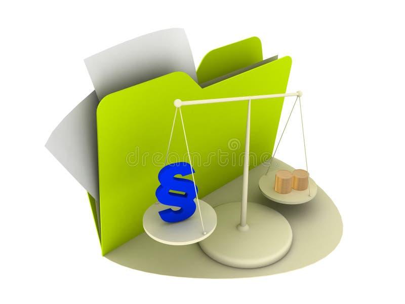 Het pictogram van de wet vector illustratie