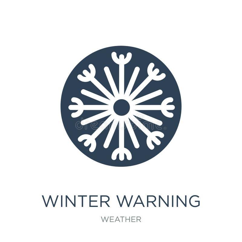 het pictogram van de de winterwaarschuwing in in ontwerpstijl het pictogram van de de winterwaarschuwing op witte achtergrond wor vector illustratie