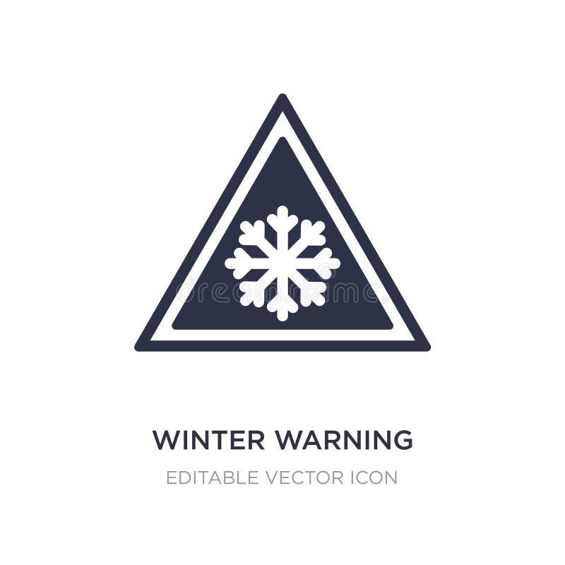 het pictogram van de de winterwaarschuwing op witte achtergrond Eenvoudige elementenillustratie van Weerconcept royalty-vrije illustratie