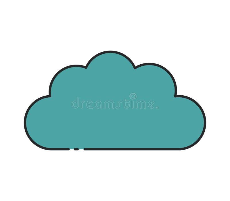 Het pictogram van de wolk royalty-vrije stock afbeelding