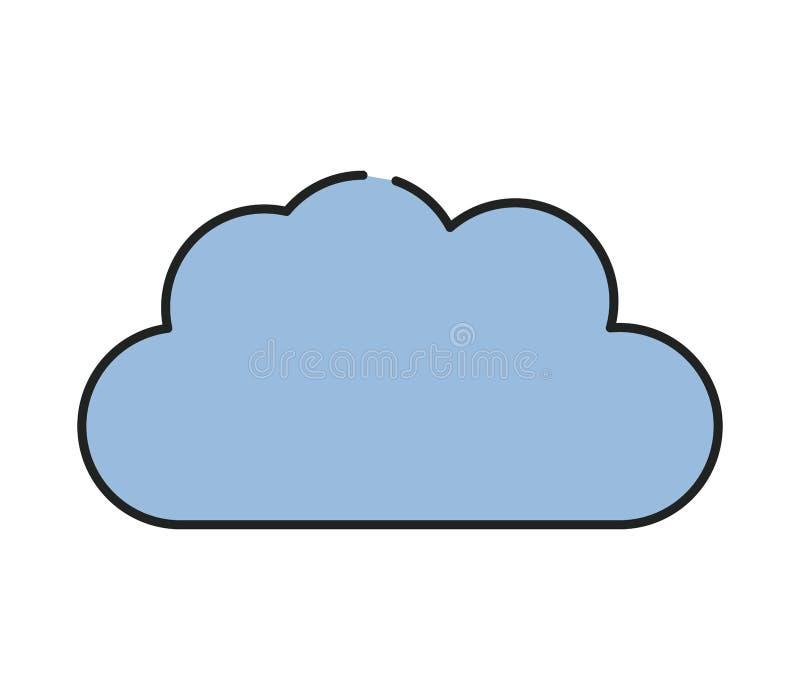 Het pictogram van de wolk stock foto's