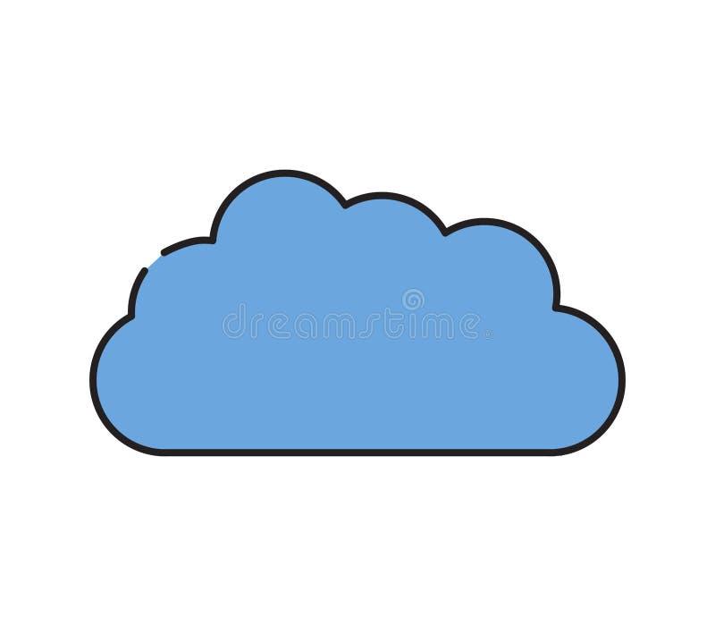 Het pictogram van de wolk stock foto