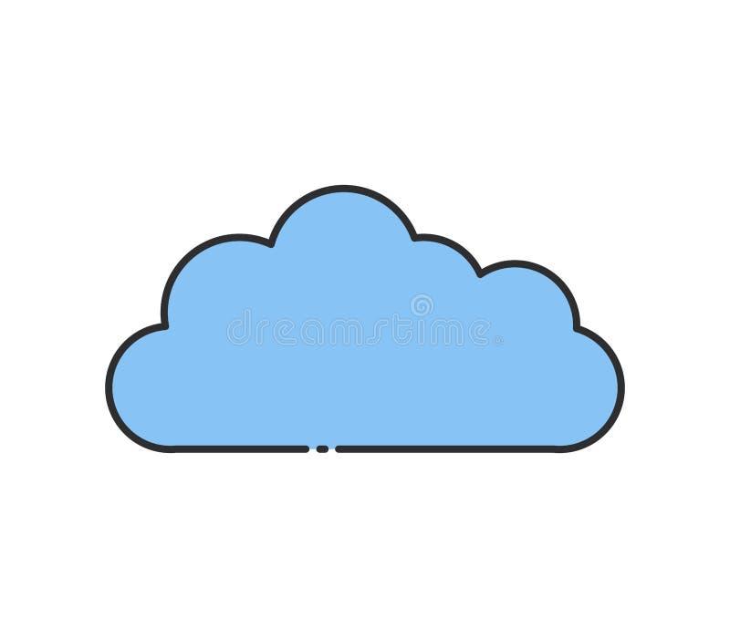Het pictogram van de wolk stock afbeeldingen
