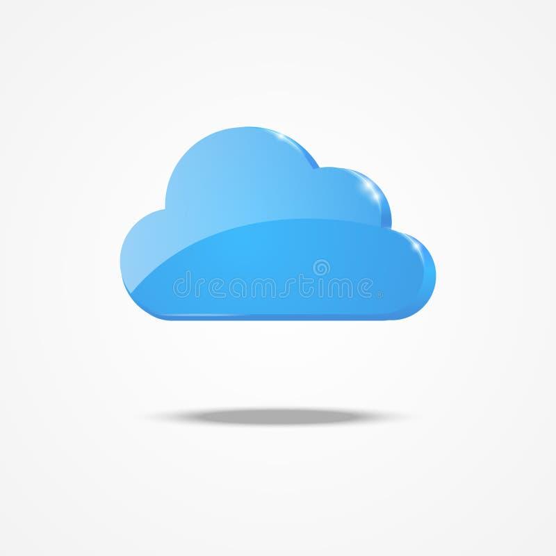 Het pictogram van de wolk vector illustratie