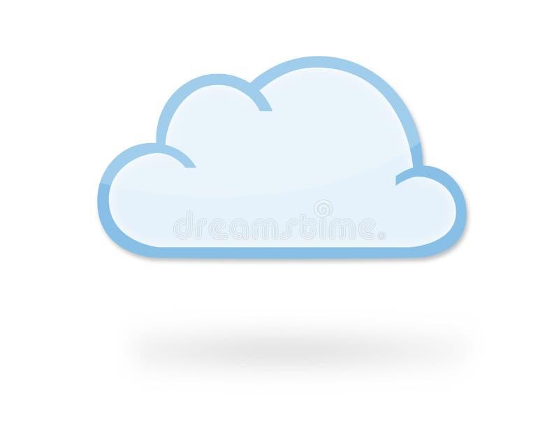Het pictogram van de wolk stock illustratie