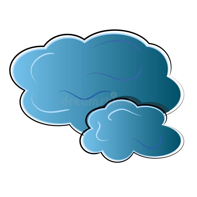 Het pictogram van de wolk. aard symbool vector illustratie