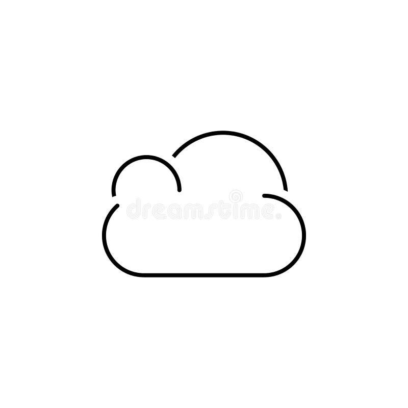 Het pictogram van de wolk Element van eenvoudig pictogram in materiële stijl voor mobiel concept en Web apps Dun lijnpictogram vo stock illustratie