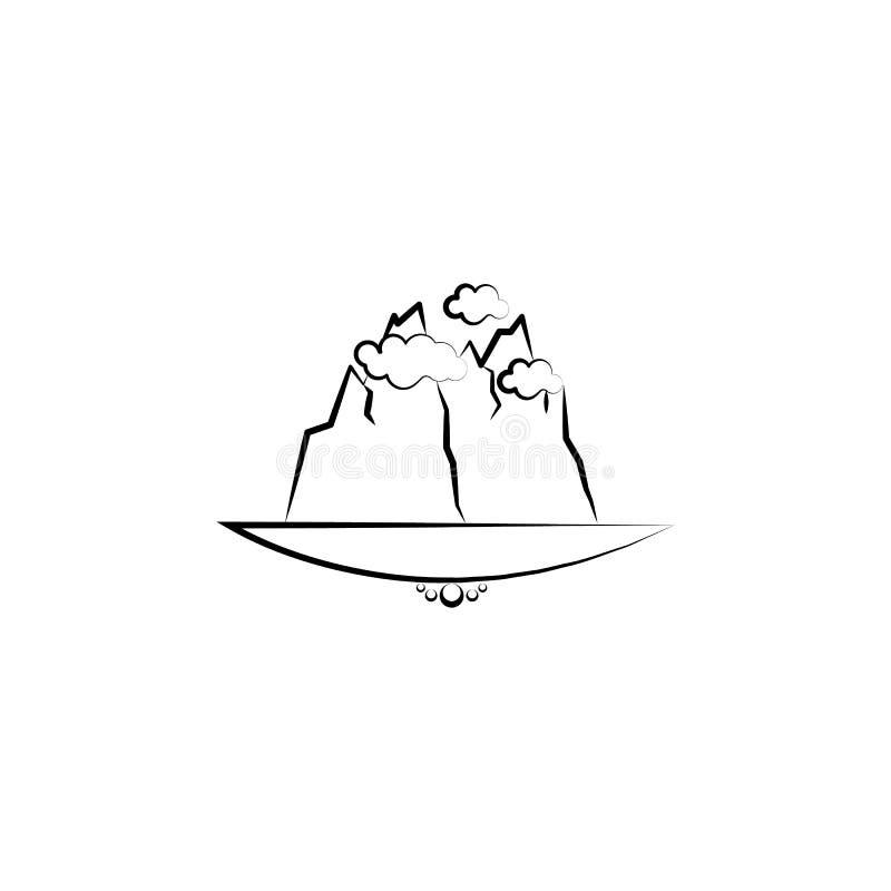 het pictogram van de wolkenberg Element van landschapspictogram voor mobiel concept en Web apps Kan het hand getrokken pictogram  vector illustratie
