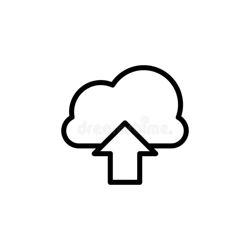 het pictogram van de wolkendownload Element van eenvoudig pictogram voor websites, Webontwerp, mobiele app, informatiegrafiek Dik royalty-vrije illustratie