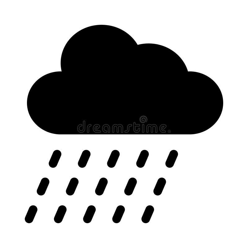 Het pictogram van de wolkenregen stock illustratie