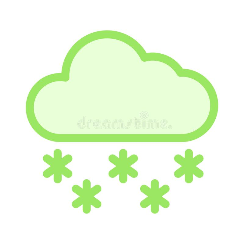 Het Pictogram van de wolkensneeuw vector illustratie