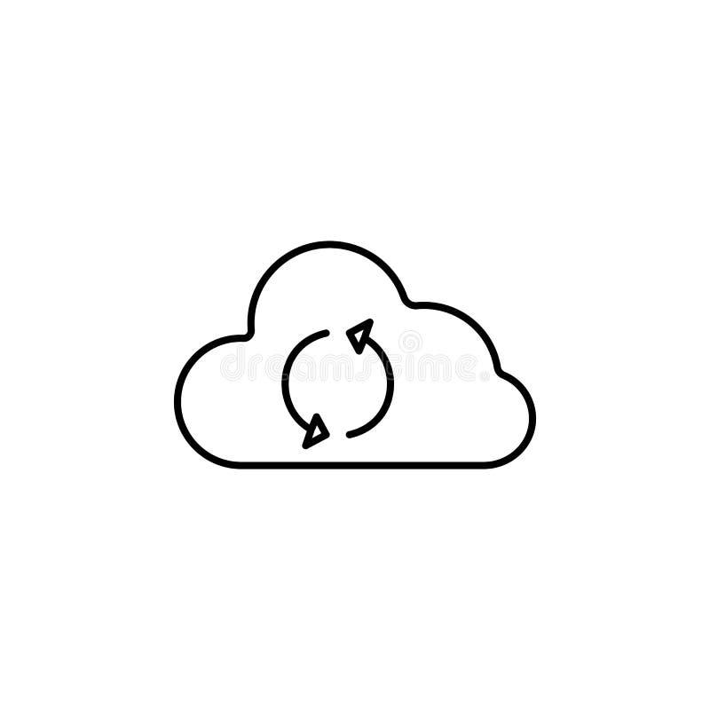 het pictogram van de wolkenuitwisseling Element van eenvoudig pictogram voor websites, Webontwerp, mobiele app, informatiegrafiek stock illustratie