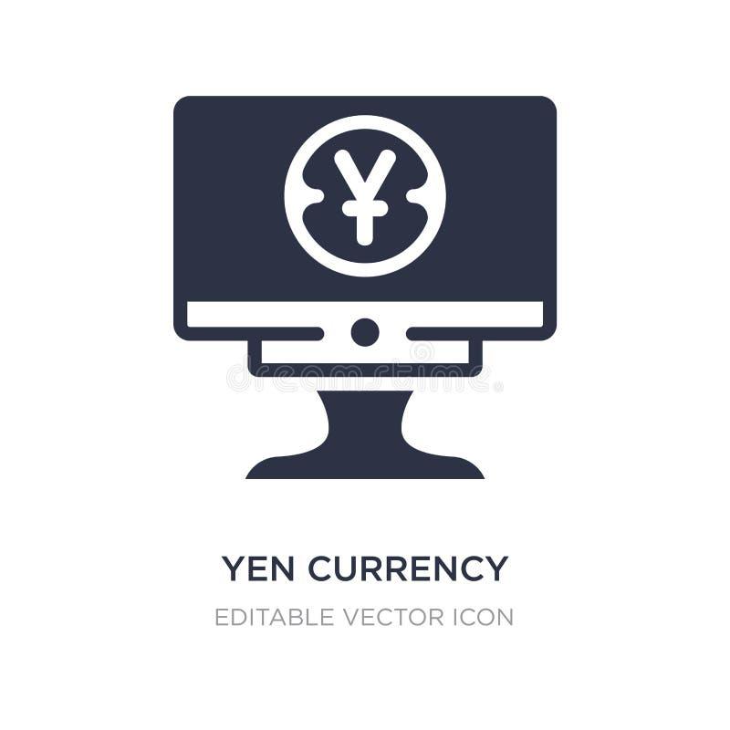 het pictogram van de Yenmunt op witte achtergrond Eenvoudige elementenillustratie van Bedrijfsconcept stock illustratie