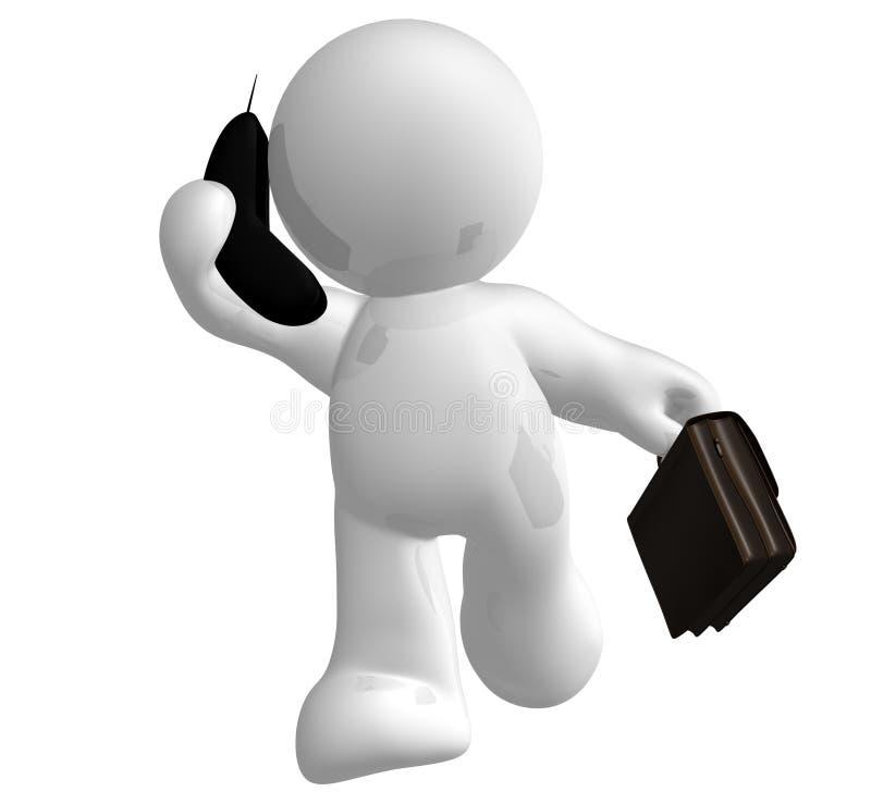 Het pictogram van de zakenman op de telefoon vector illustratie